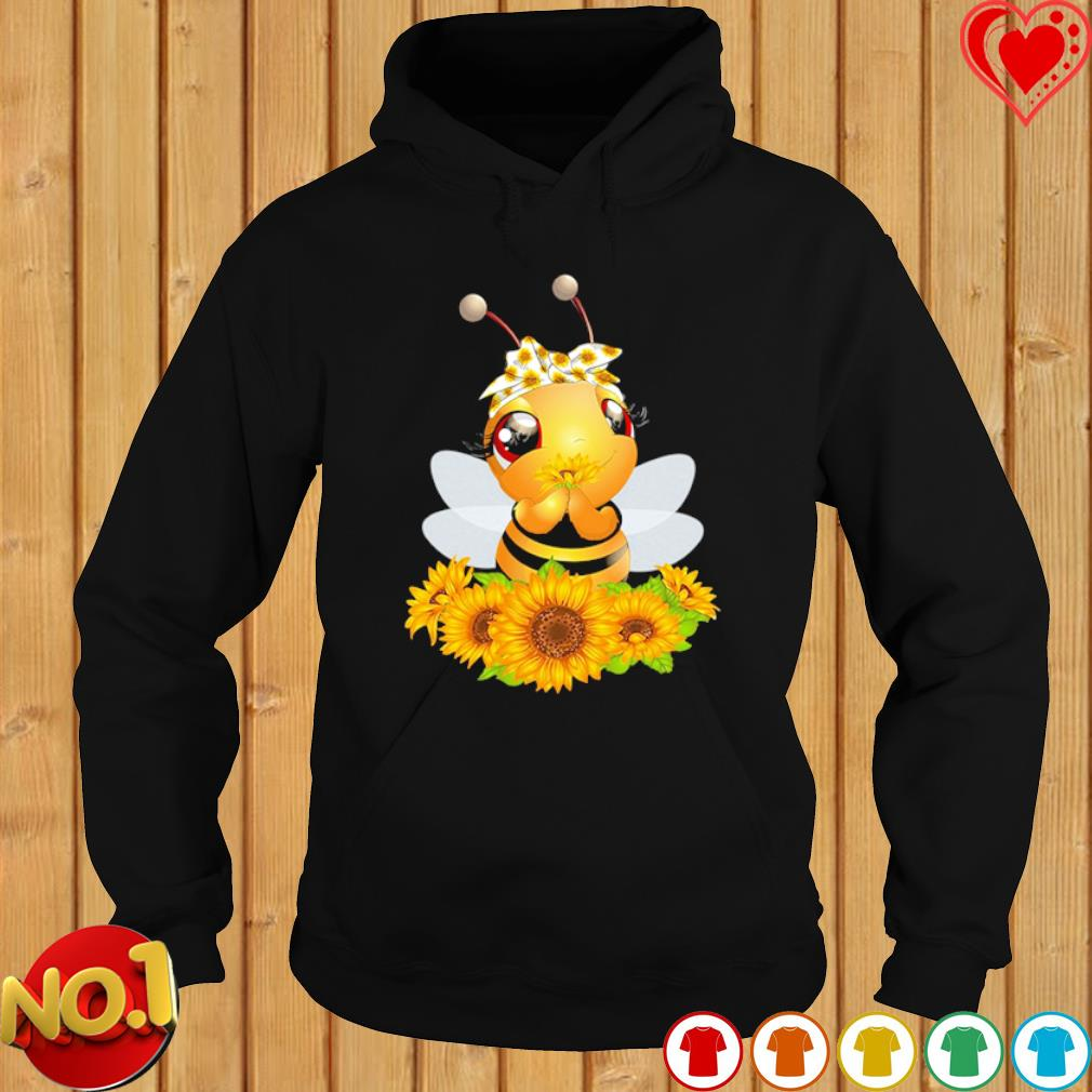 Bee Happy Sunflower Peace s hoodie