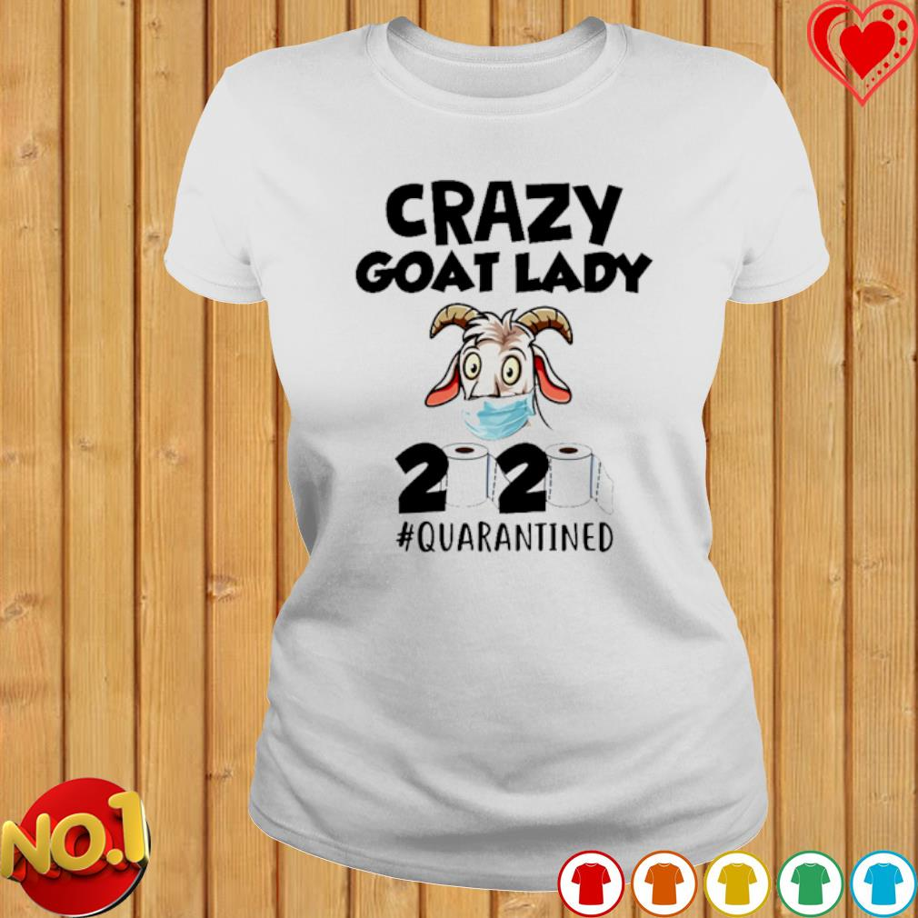 Crazy goat lady t-shirt fitted short sleeve womens