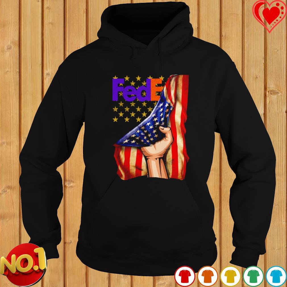 FedEx inside American flag s hoodie