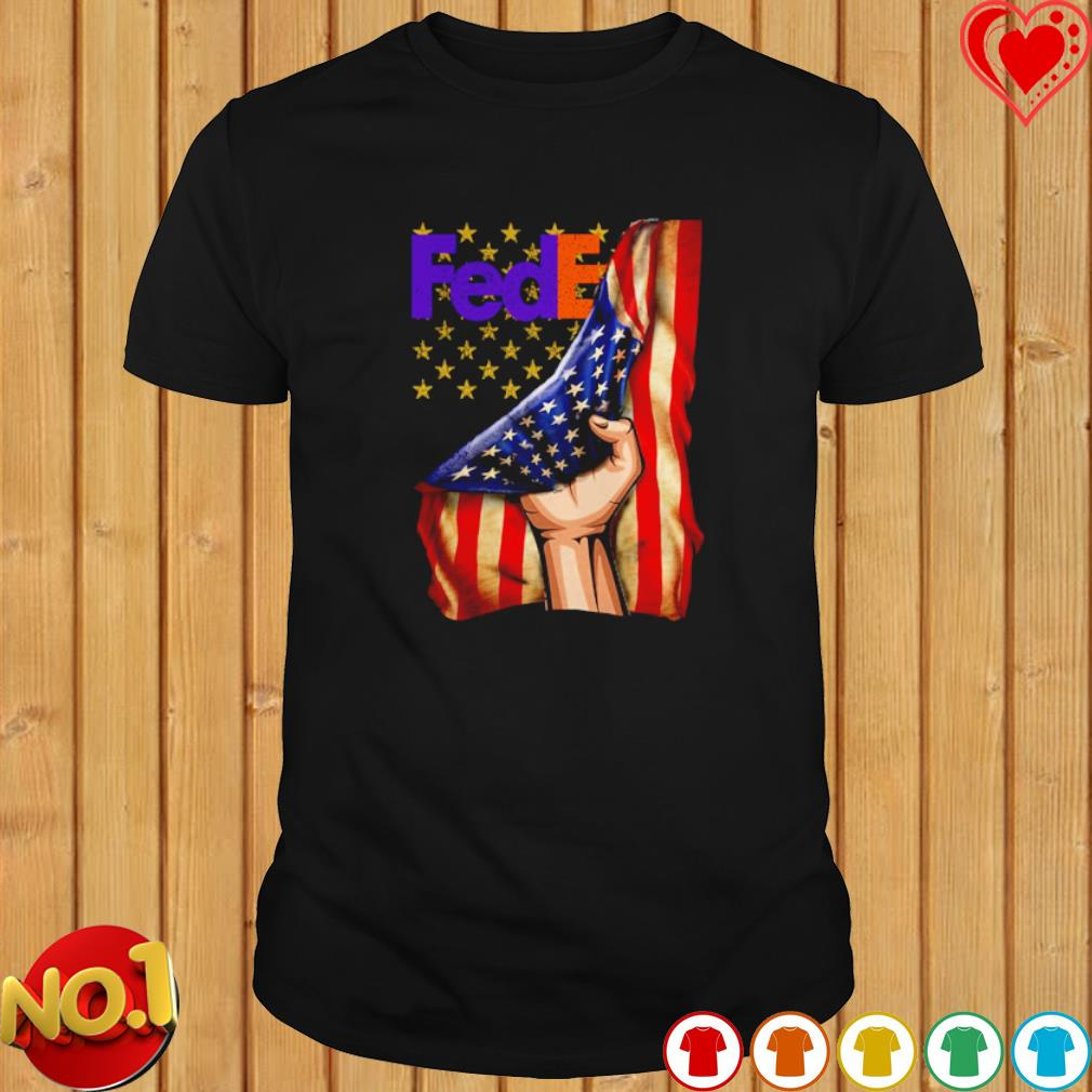 FedEx inside American flag shirt