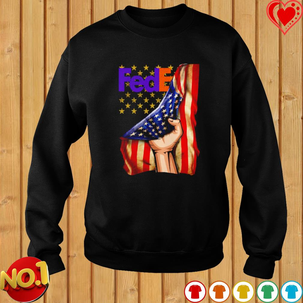 FedEx inside American flag s sweater