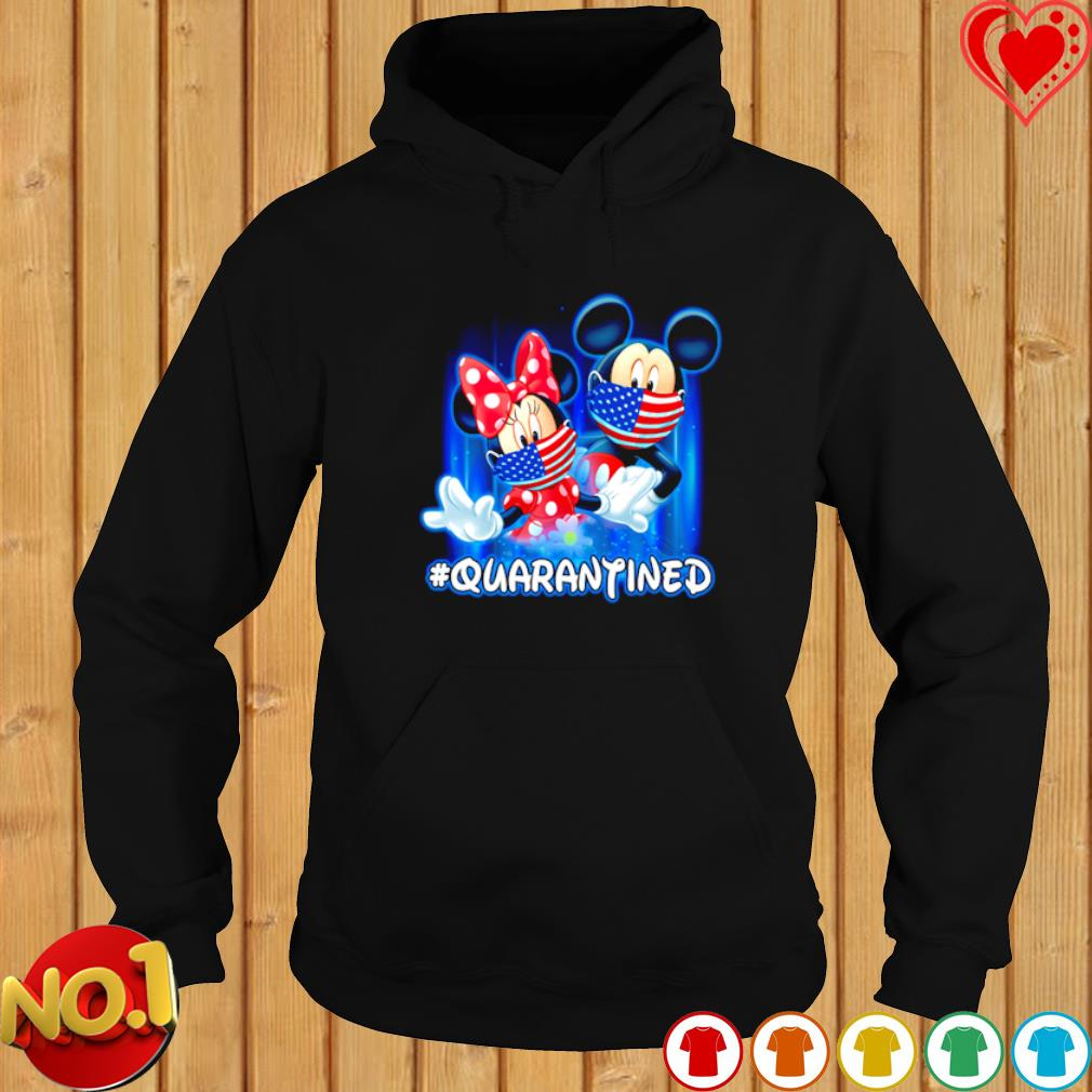 Mickey and Minnie mouse facemask quarantined s hoodie