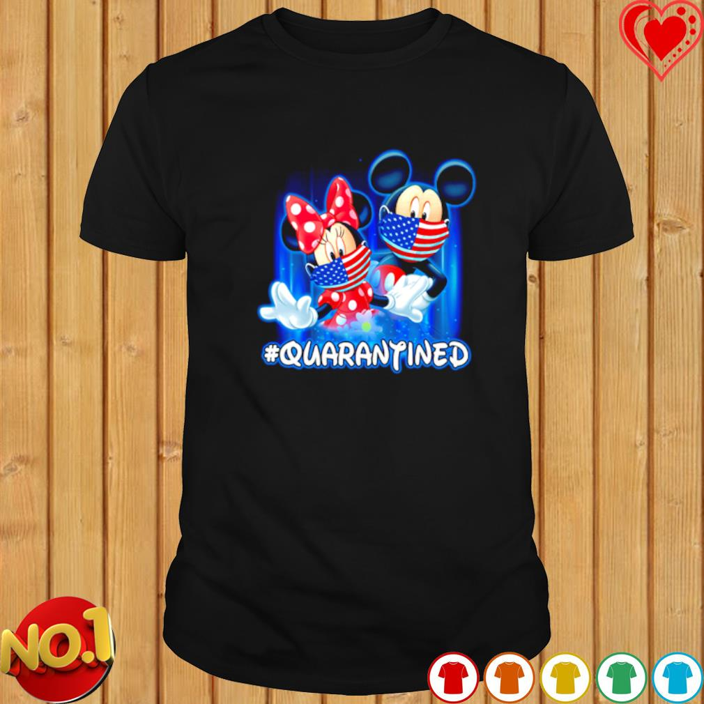 Mickey and Minnie mouse facemask quarantined shirt