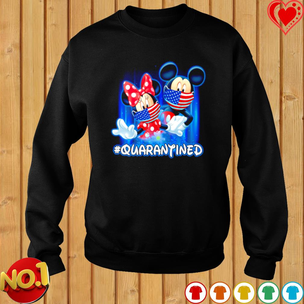 Mickey and Minnie mouse facemask quarantined s sweater