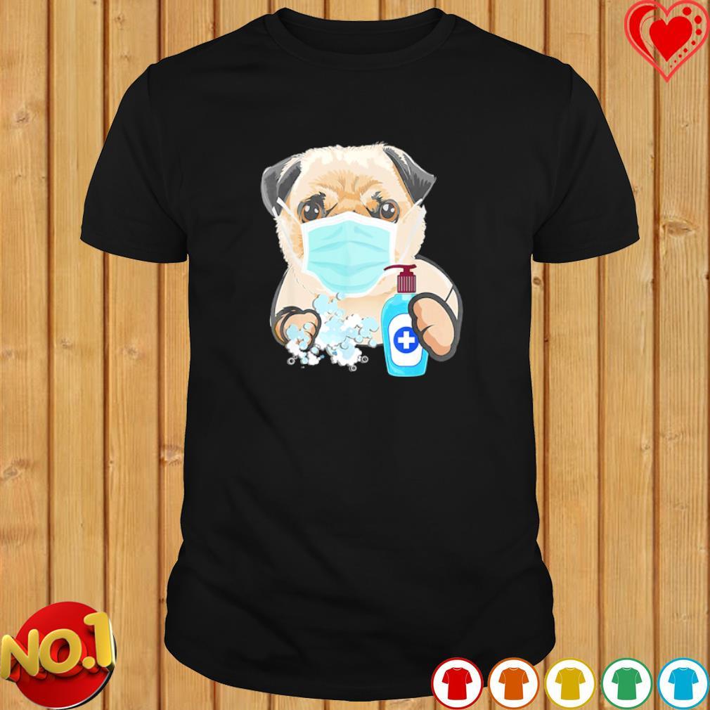Pug wash hand shirt