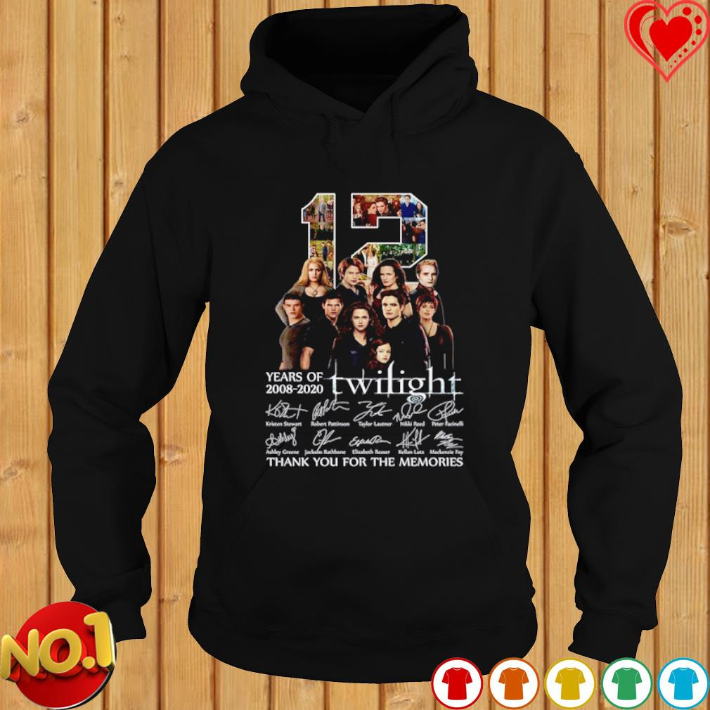 12 years of Twilight 2008 2020 thank you for the memories s hoodie