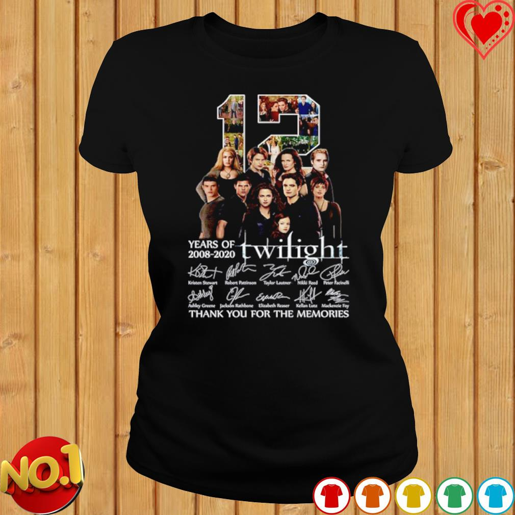 12 years of Twilight 2008 2020 thank you for the memories s ladies-tee