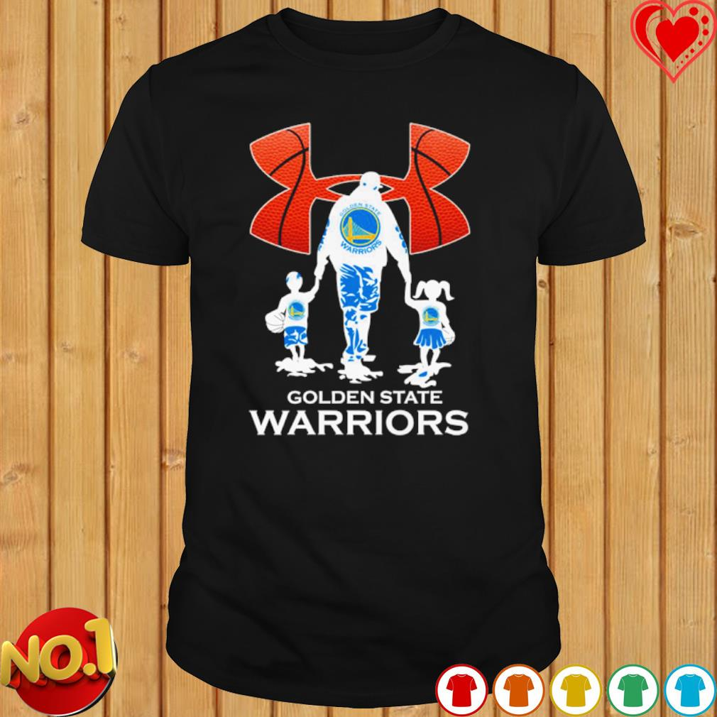 Baseball Dad and Son Golden State Warriors shirt