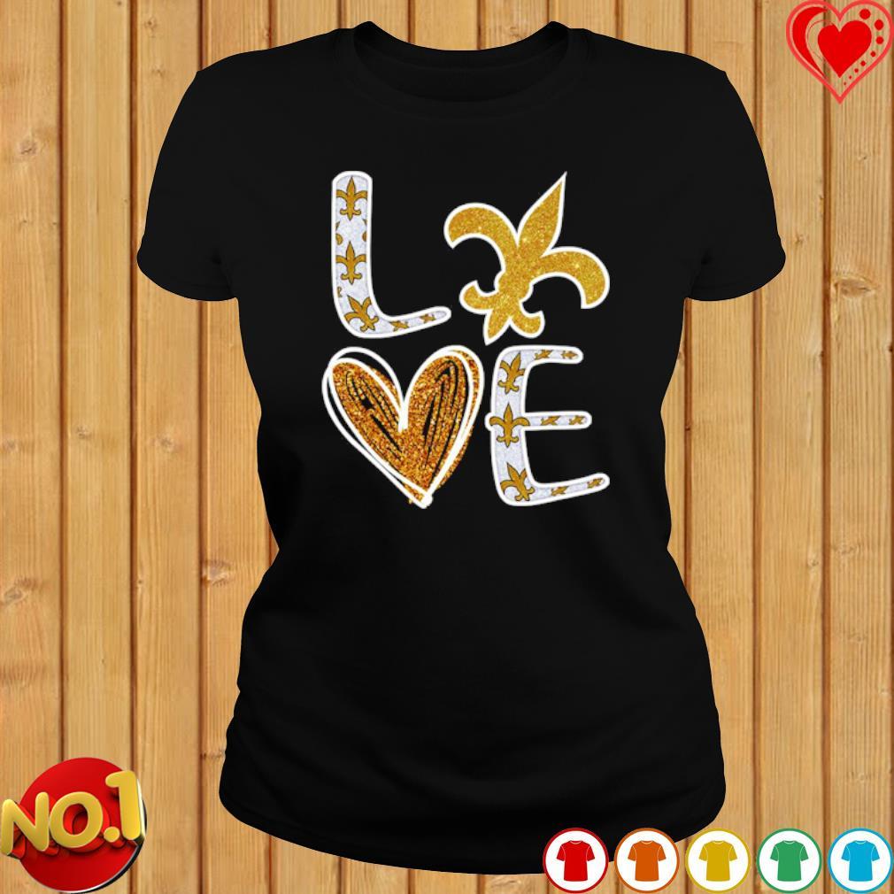 Love New Orleans Saints s ladies-tee