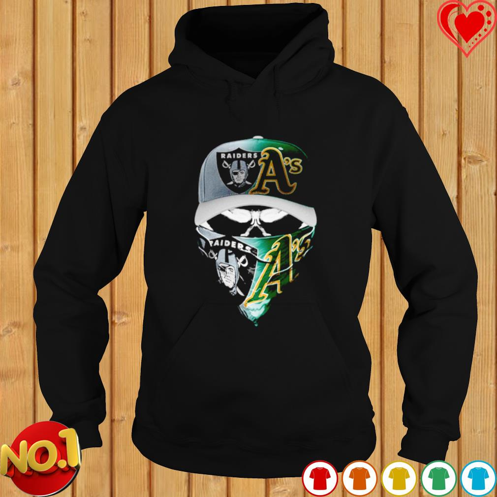 Oakland Raiders and Marshall A's skull s hoodie