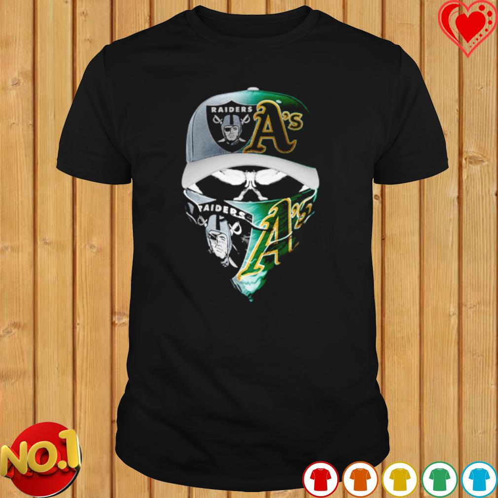 Oakland Raiders and Marshall A's skull shirt
