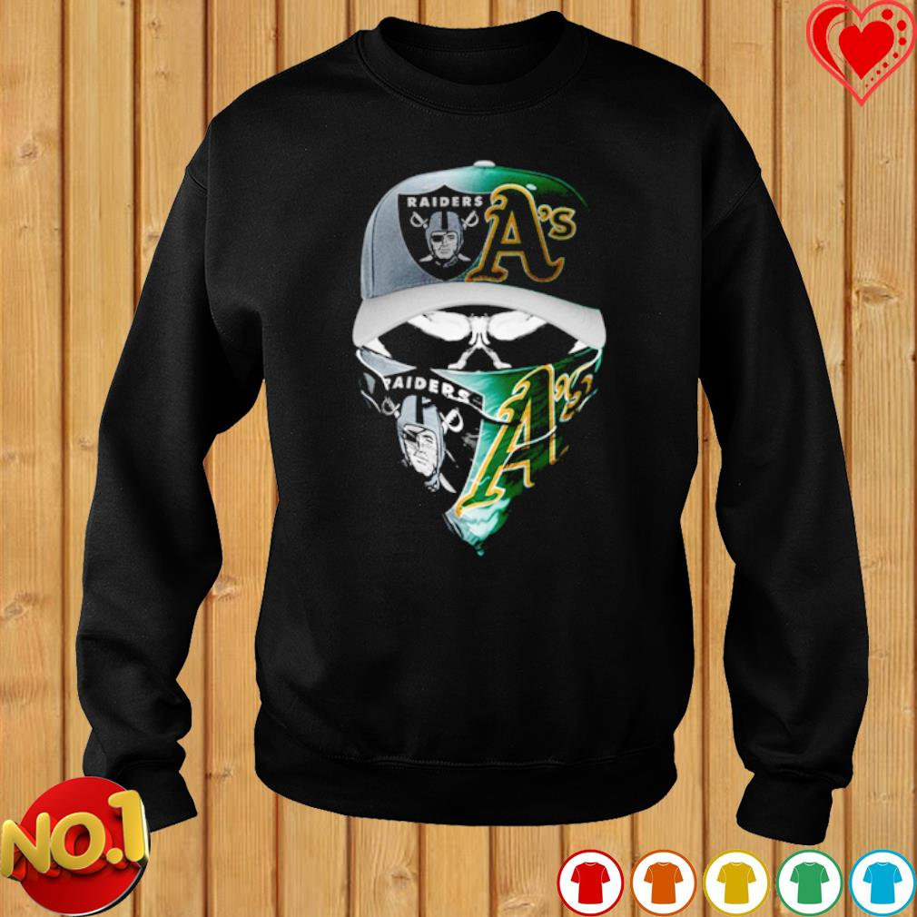 Oakland Raiders and Marshall A's skull s sweater