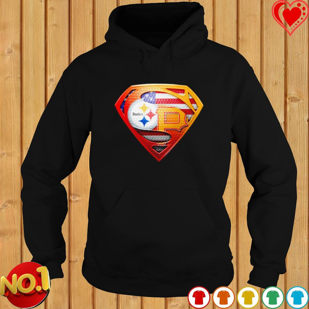 Pittsburgh Steelers and Pittsburgh Pirates Superman s hoodie