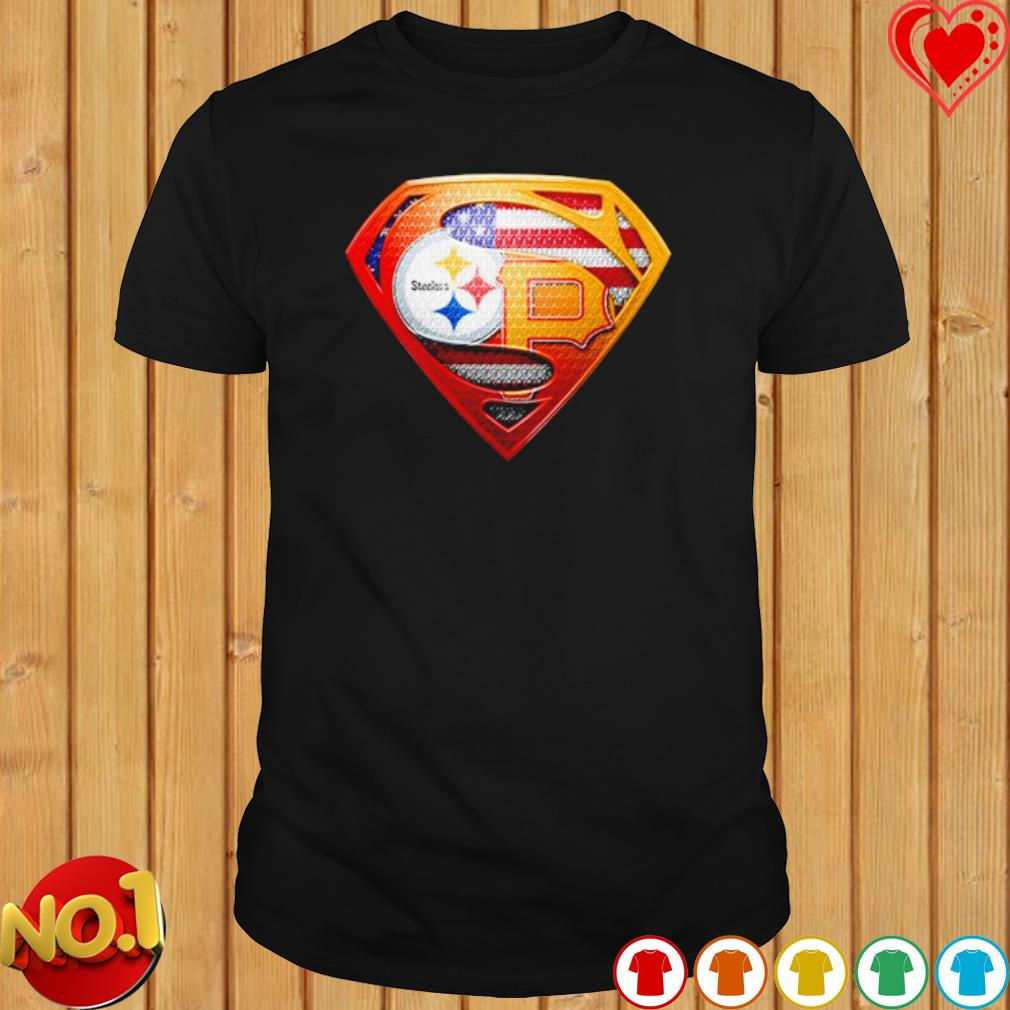 Pittsburgh Steelers and Pittsburgh Pirates Superman shirt