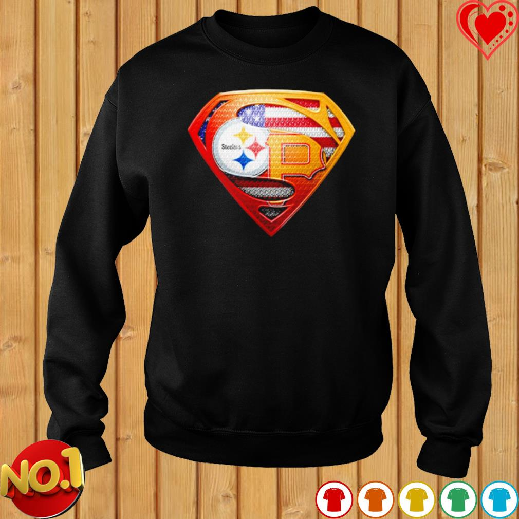 Pittsburgh Steelers and Pittsburgh Pirates Superman s sweater