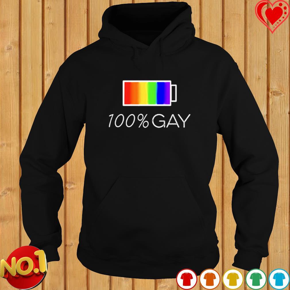 100% gay LGBT s hoodie