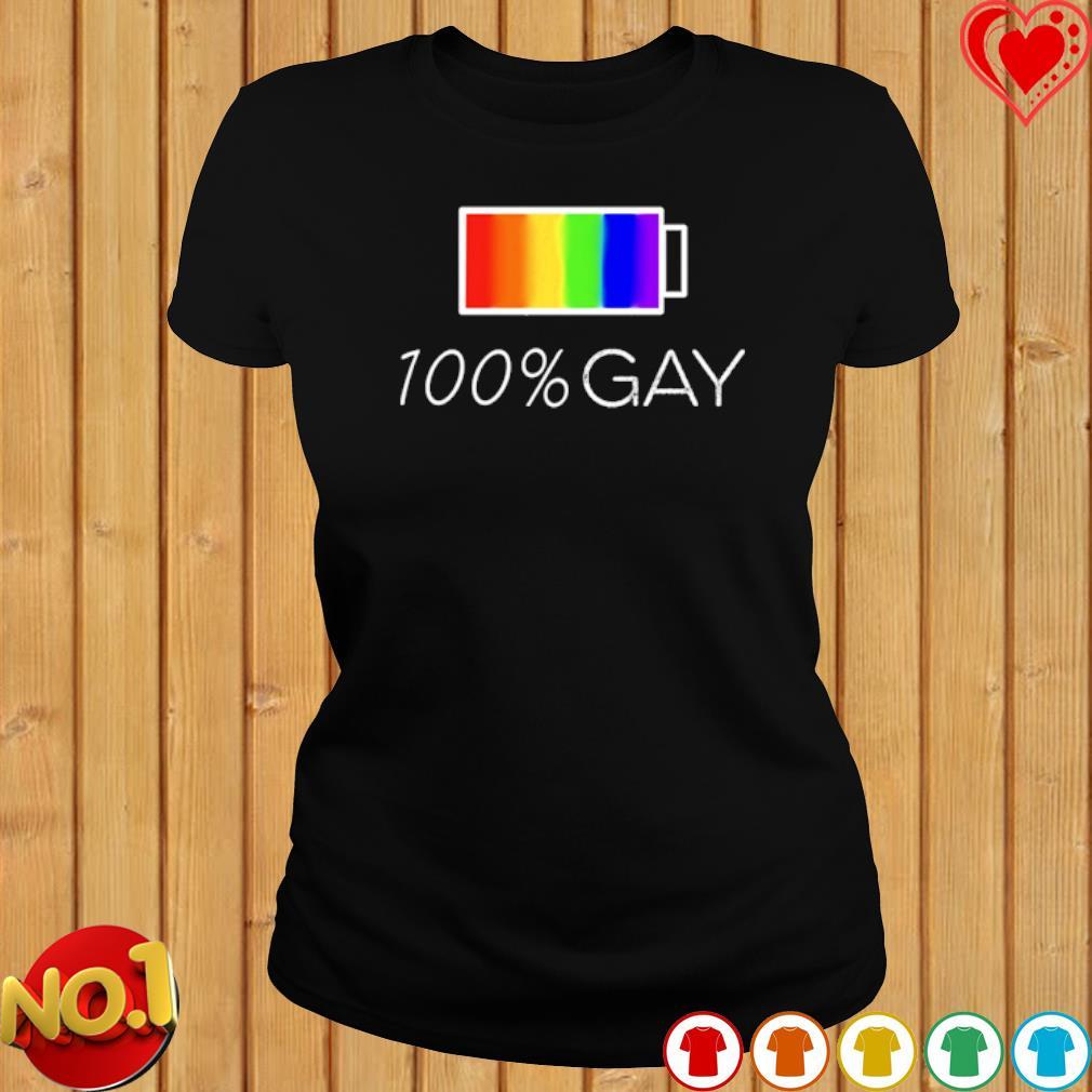 100% gay LGBT s ladies-tee