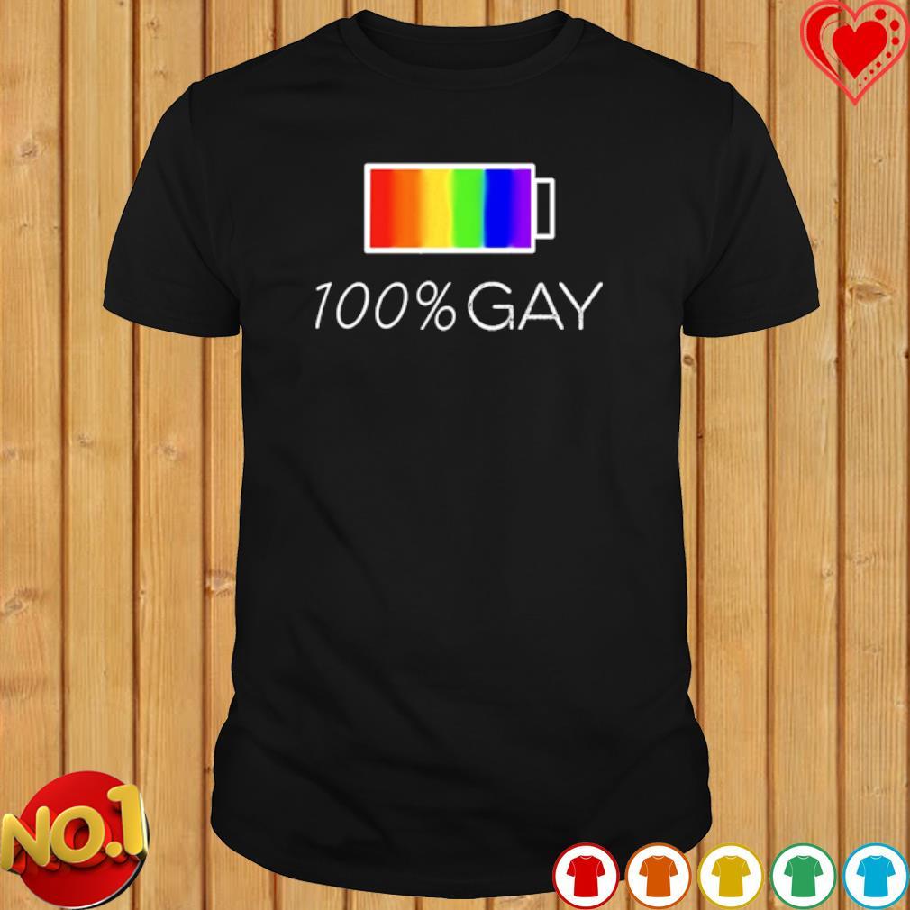 100% gay LGBT shirt