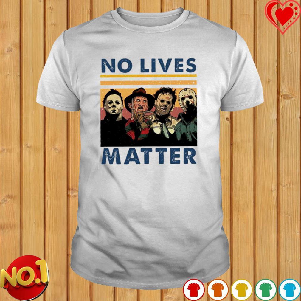 Horrorno lives matter vintage shirt
