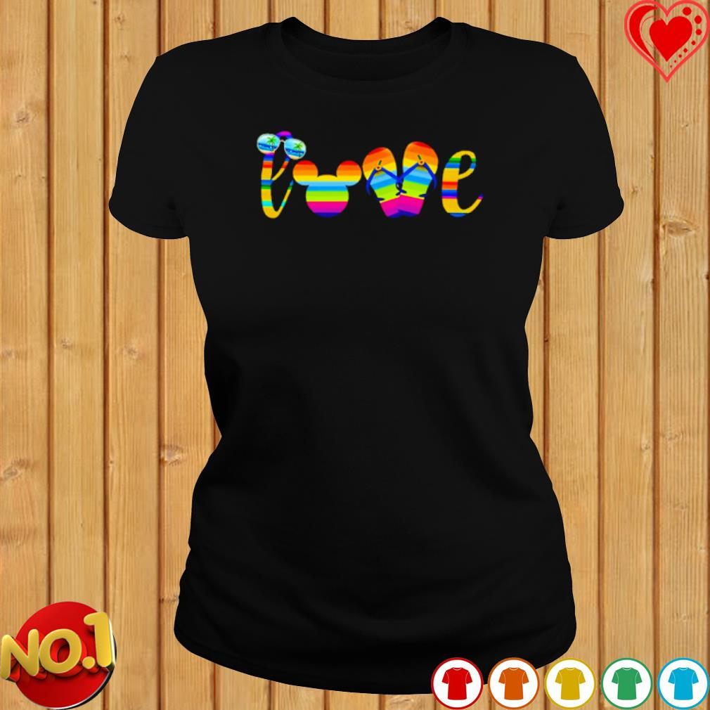 Love mouse ears summer vibes s ladies-tee