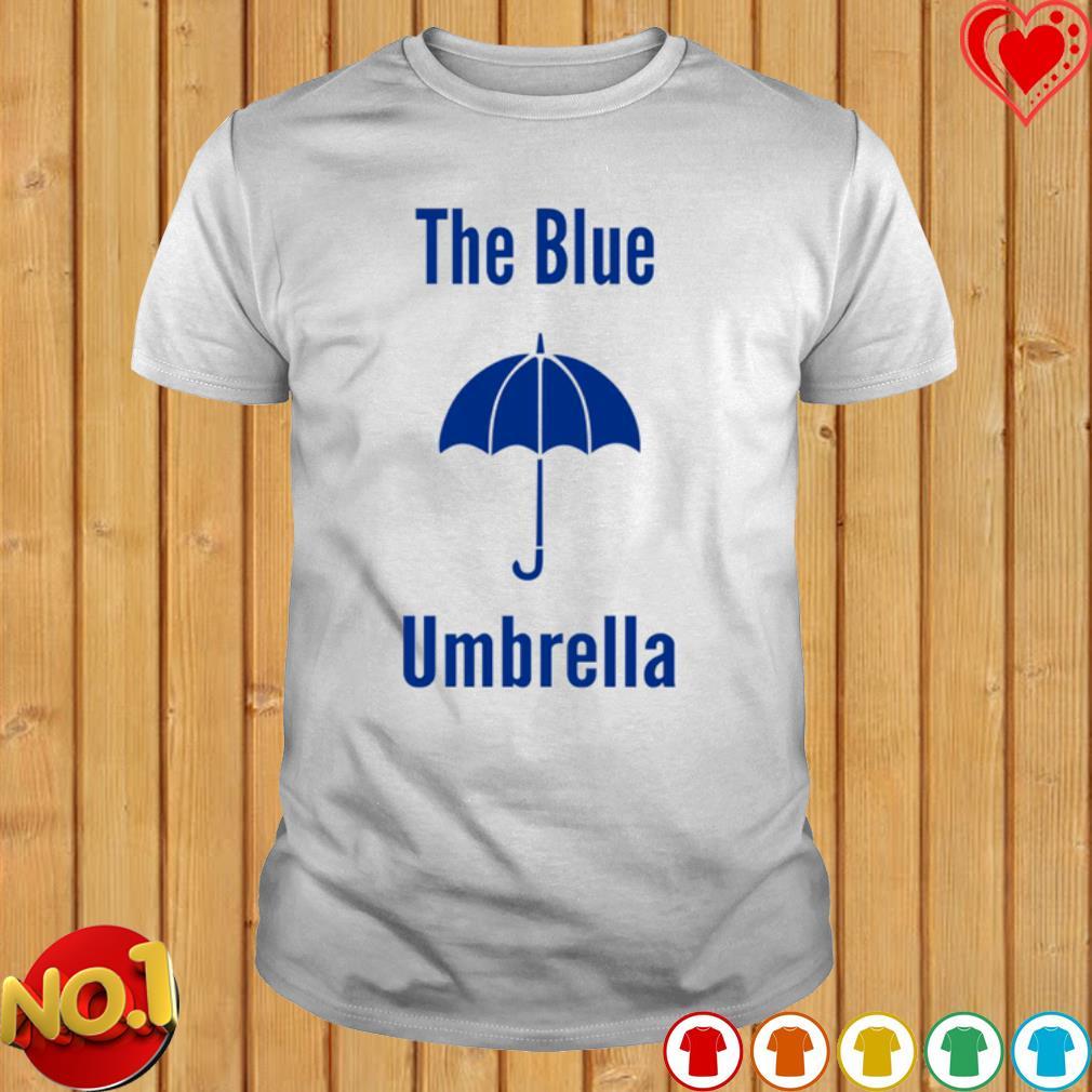 The blue umbrella shirt