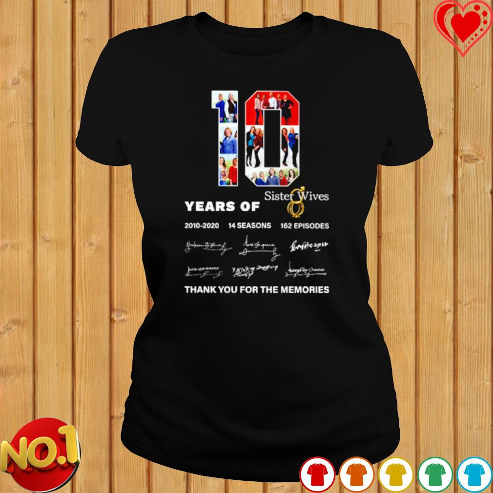 10 years of Sister Wives 2010 2020 thank you for the memories s ladies-tee