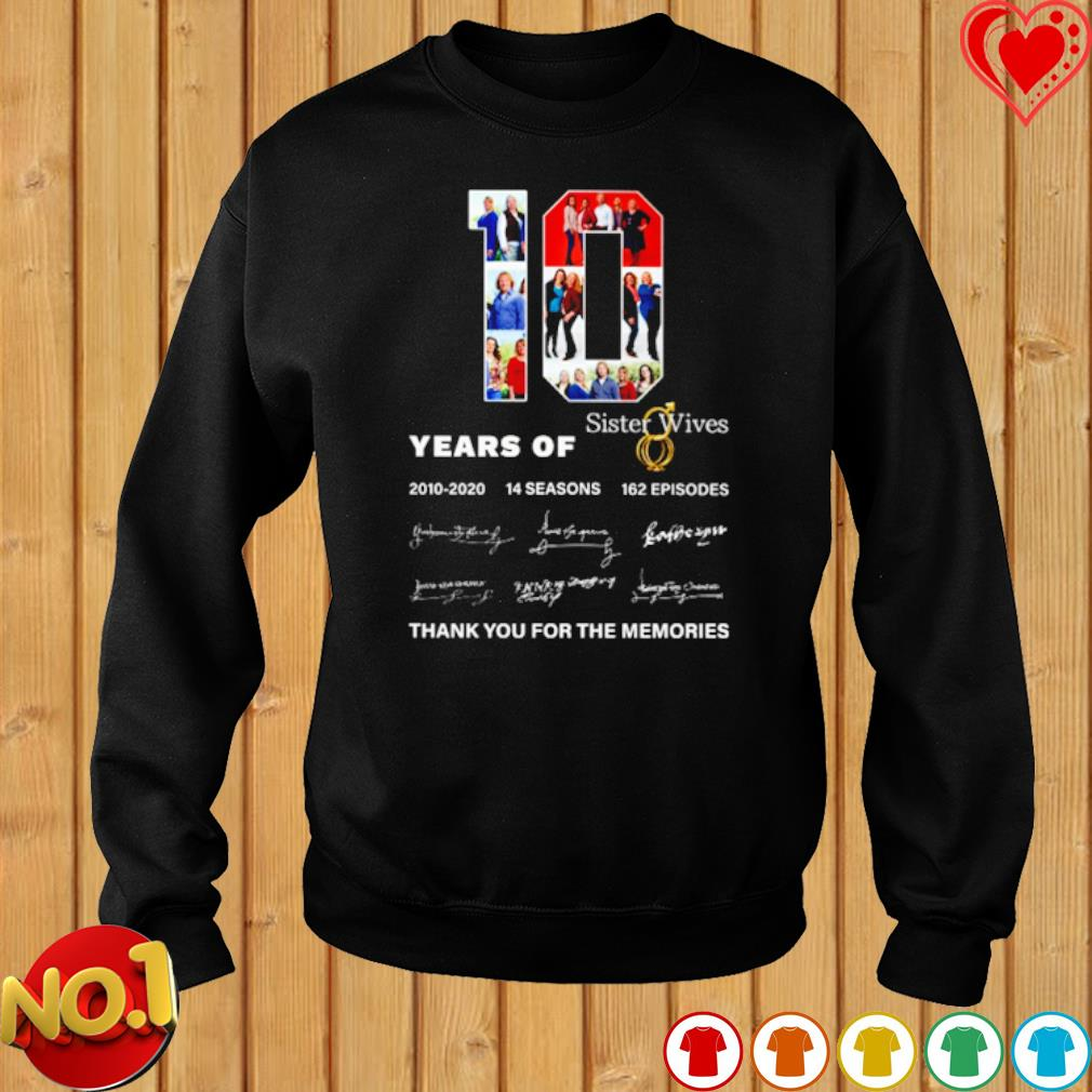 10 years of Sister Wives 2010 2020 thank you for the memories s sweater
