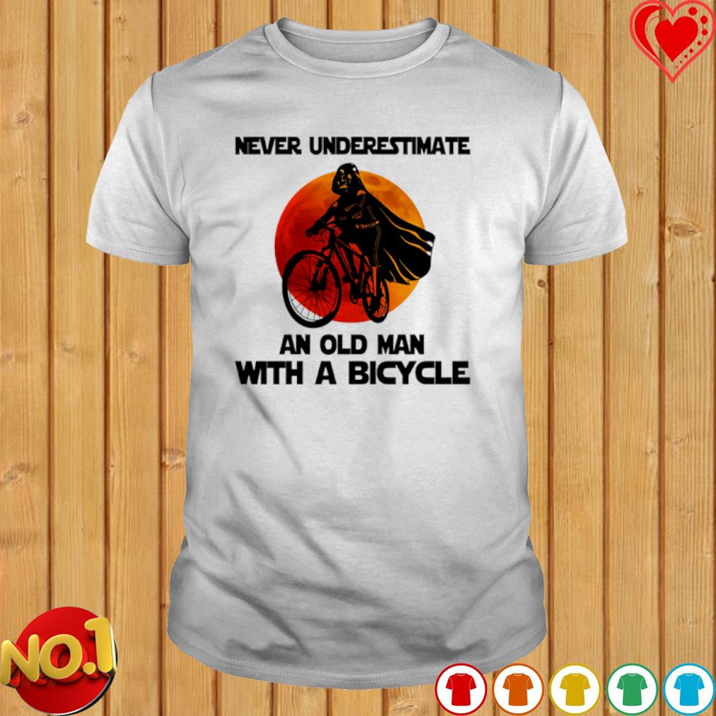 Darth Vader never underestimate an old man with a bicycle shirt