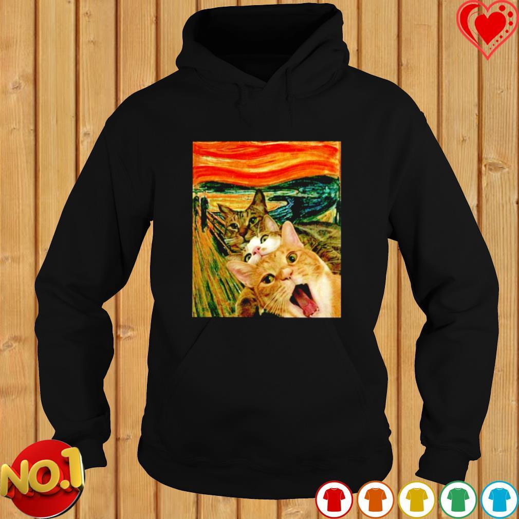 Edvard Munch The Scream Cats s hoodie