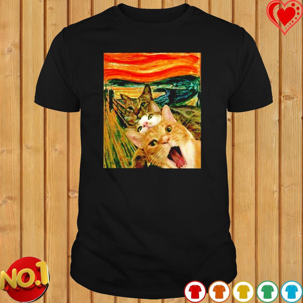 Edvard Munch The Scream Cats shirt