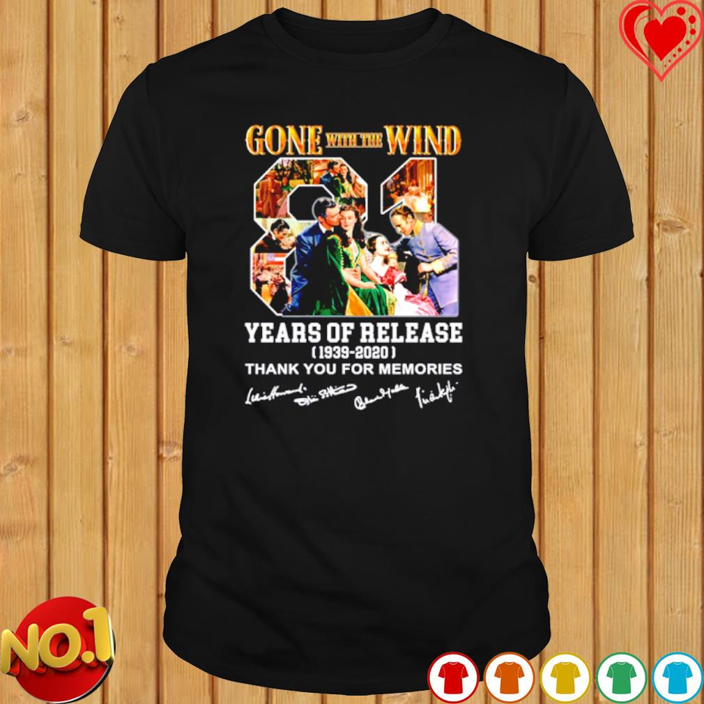 Gone with the Wind 81 years of release shirt