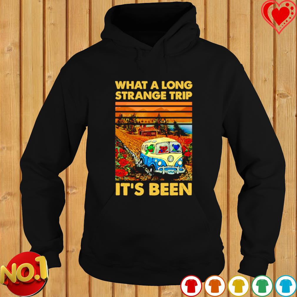 Grateful Dead bears What a long strange trip it's been s hoodie