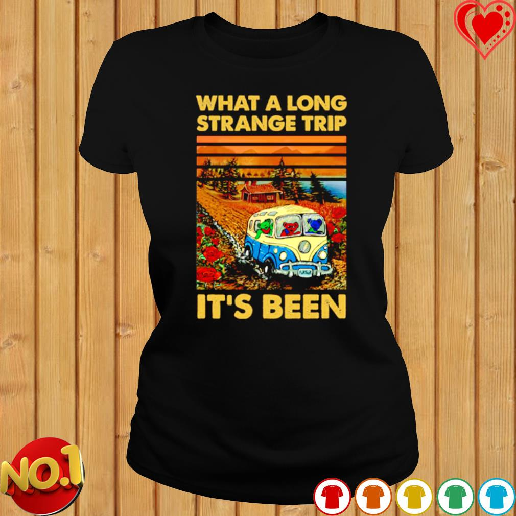 Grateful Dead bears What a long strange trip it's been s ladies-tee
