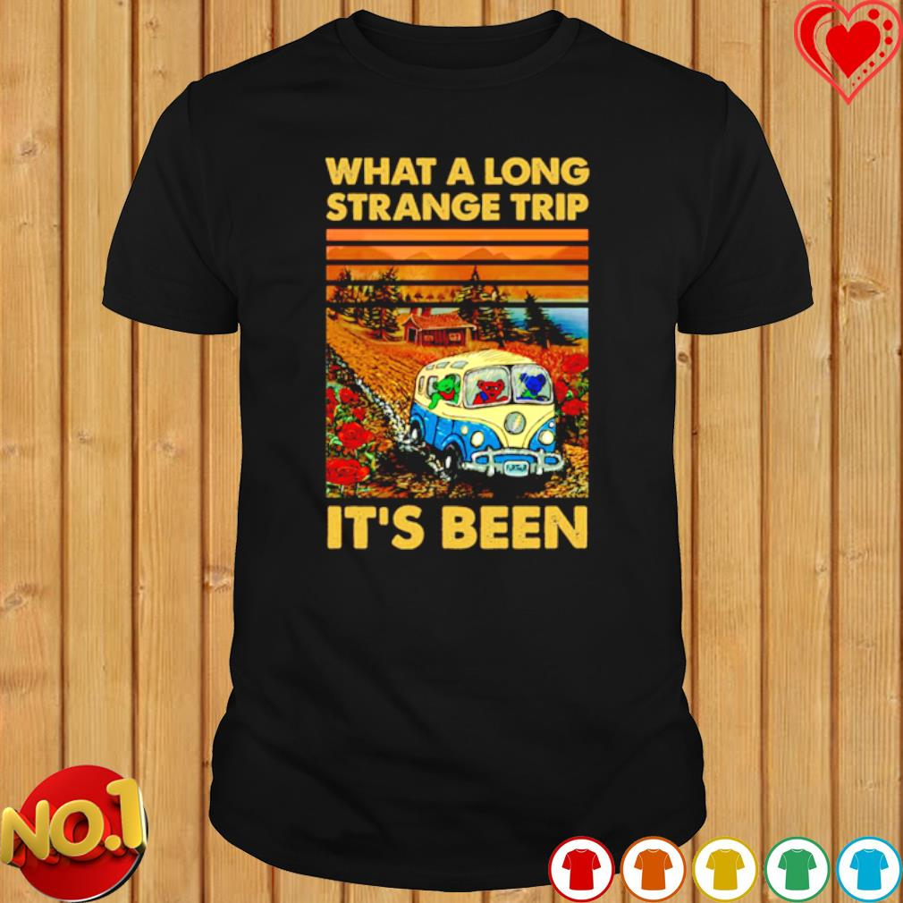 Grateful Dead bears What a long strange trip it's been shirt