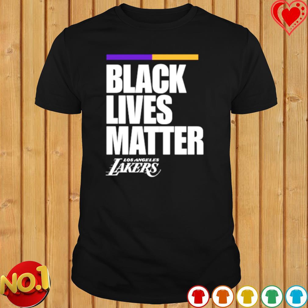 Los Angeles Lakers black lives matter shirt