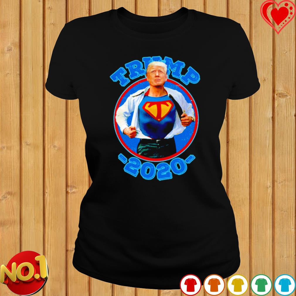 Super Trump Re-Elect 2020 Election Superhero s ladies-tee