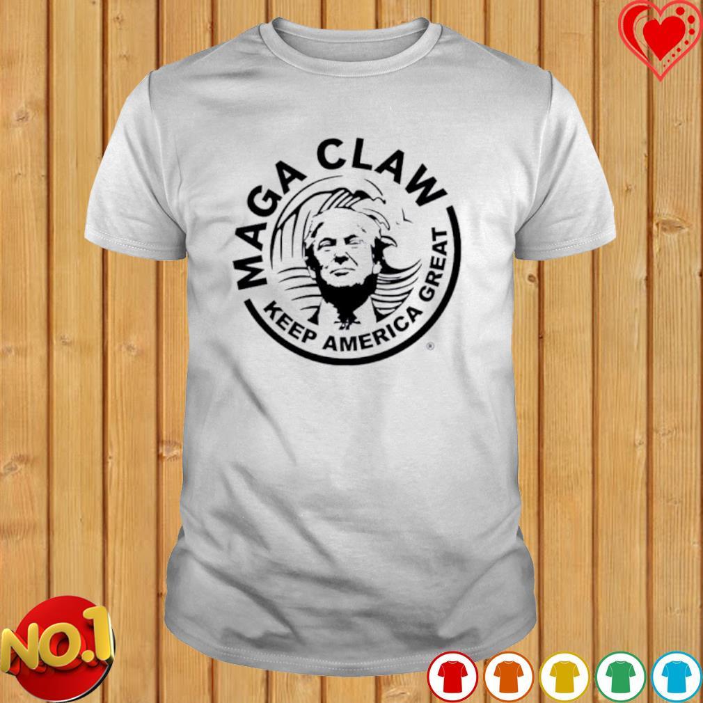Trump maga claw keep America great shirt
