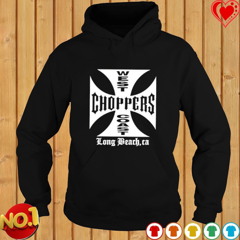 West choppers coast long beach ca s hoodie