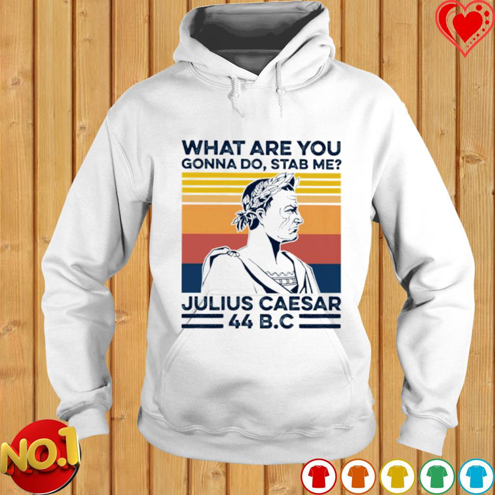 What Are You Gonna Do Stab Me julius caesar vintage s hoodie