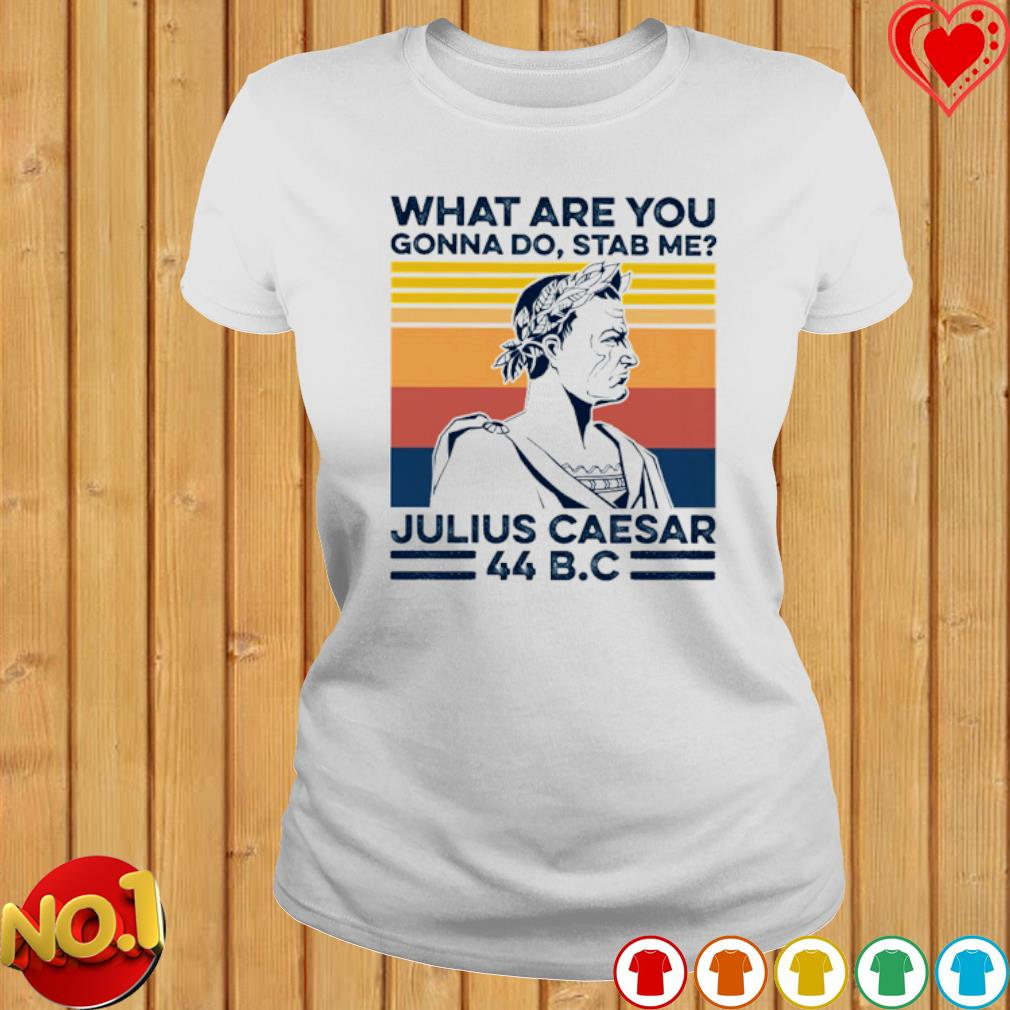 What Are You Gonna Do Stab Me julius caesar vintage s ladies-tee