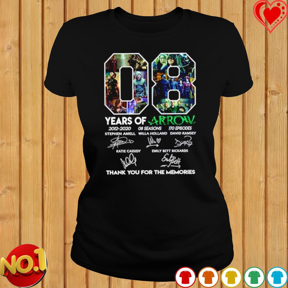 08 years of Arrow 2012 2020 thank you for the memories signature s ladies-tee