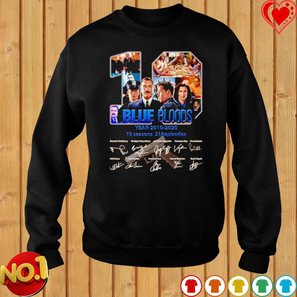 10 years of Blue Bloods 2010 2020 signature s sweater