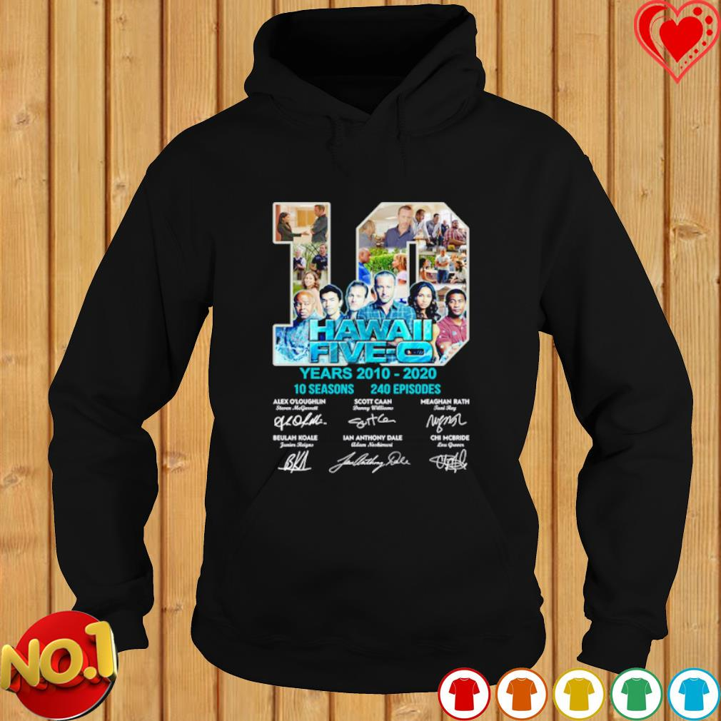 10 years of Hawaii Five-O 2010 2020 signature s hoodie