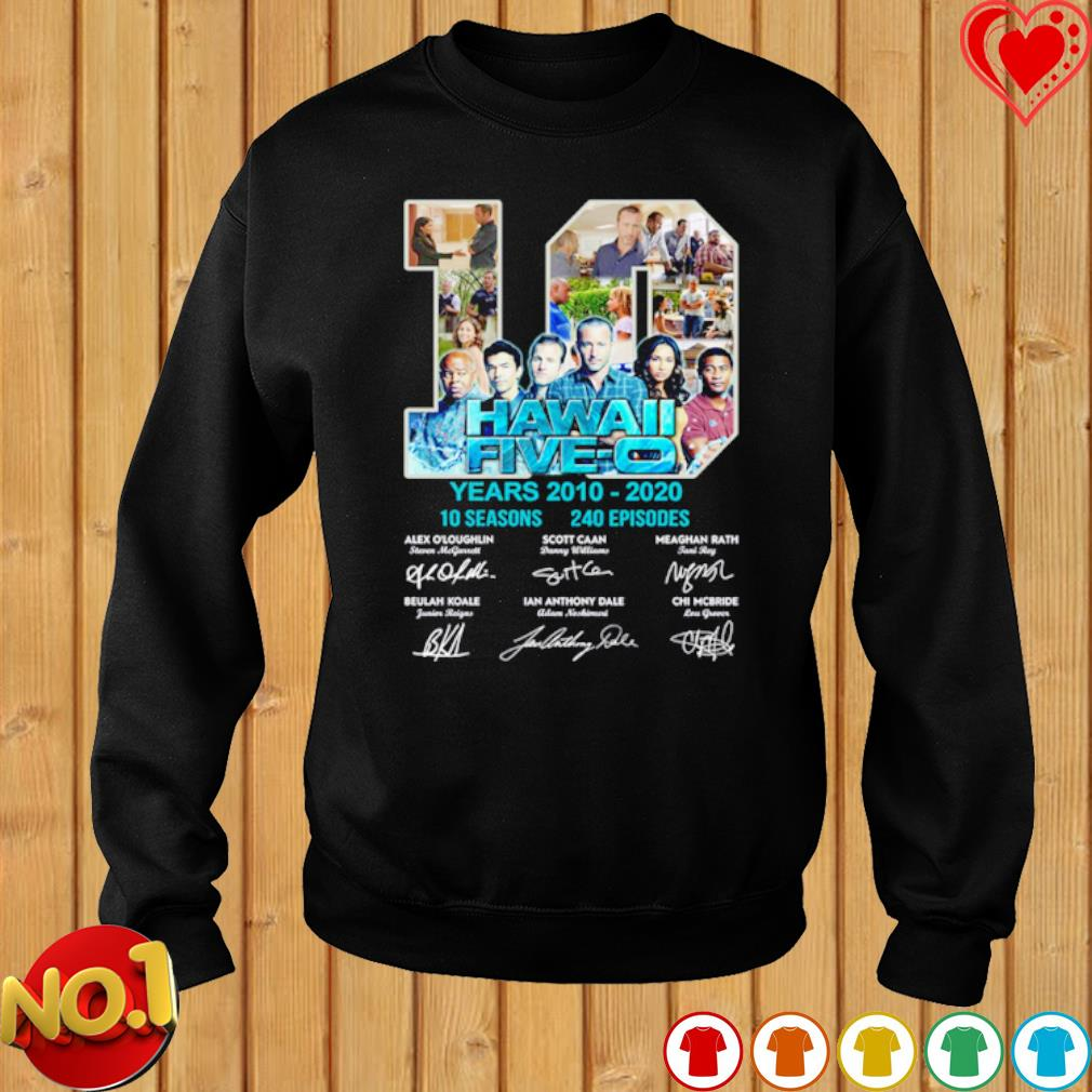 10 years of Hawaii Five-O 2010 2020 signature s sweater