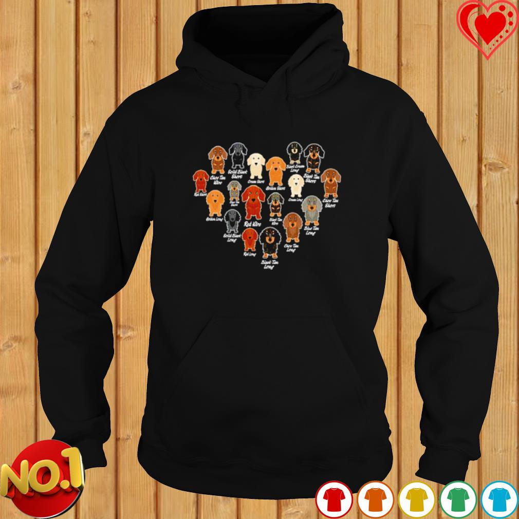 Dachshund Heart love s hoodie