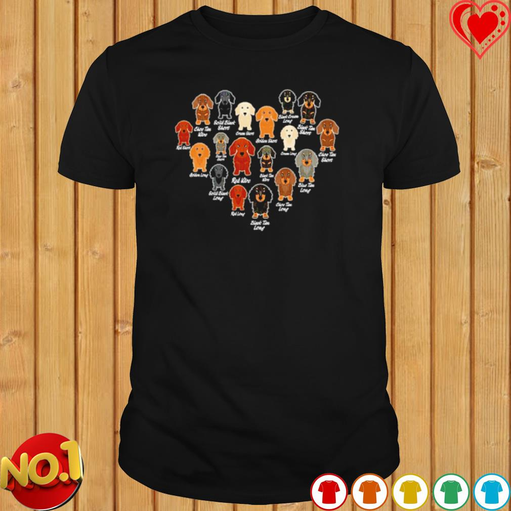 Dachshund Heart love shirt
