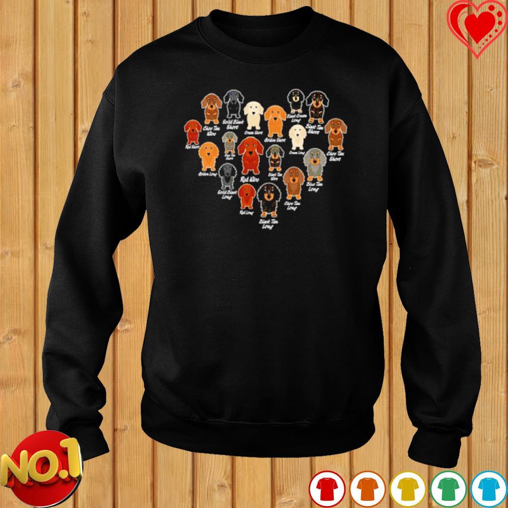 Dachshund Heart love s sweater