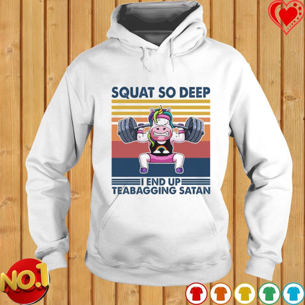 Autism Unicorn weightlifting squat so deep I end up teabagging Satan vintage s hoodie