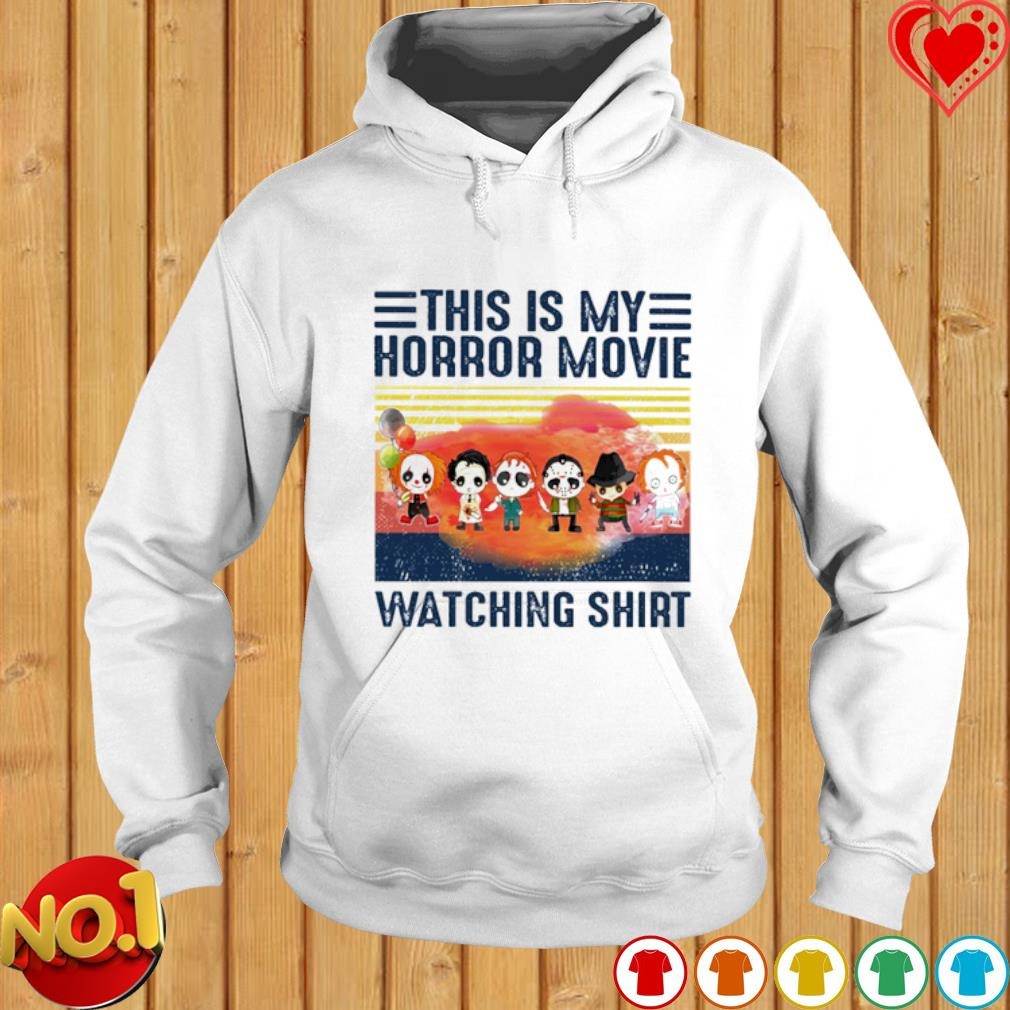 Horror characters chibi this is my horror movie watching s hoodie