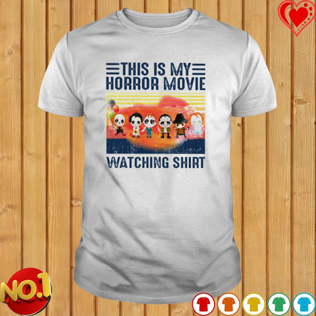 Horror characters chibi this is my horror movie watching shirt